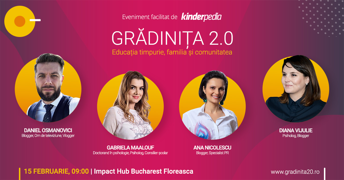 Gradinita 2.0 event cover panel parinti bloggeri
